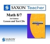Saxon Math 87 3rd Edition Lesson & Test Teacher CD-rom