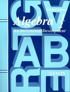 Saxon Algebra 1/2 Solutions Manual Homeschool New 3 Ed.
