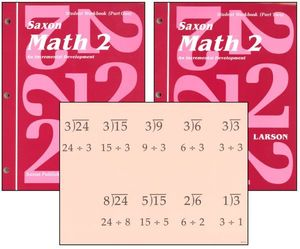 Saxon Math 2 Homeschool Student Workbooks & Fact Cards