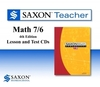 Saxon Math 76 Homeschool Teacher Lesson and Test CDs