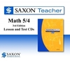 Saxon Math 54 Homeschool Teacher Lesson & Test CDs 5/4