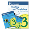 Alpha Omega Horizons Spelling & Vocabulary 3rd Grade Homeschool Set