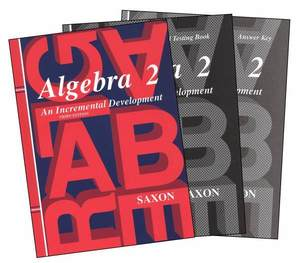 SAXON ALGEBRA 2 3rd ED. HOME STUDY KIT HOMESCHOOL NEW!