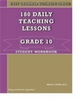 Easy Grammar Ultimate Series: 180 Teaching Lessons Grade 10 Student Book