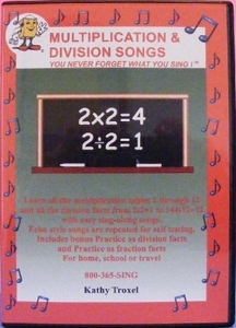 Multiplication and Division Songs DVD