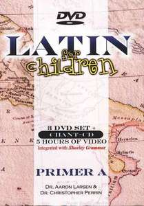 Latin For Children Primer A 3 DVDs and Chant CD