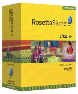 Rosetta Stone American English Level 1, 2, 3, 4, & 5 Homeschool Set