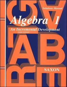 Saxon Algebra 1 3rd Ed. Solutions Manual Homeschool New